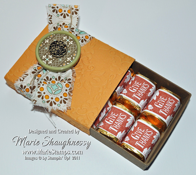 Stamping Inspiration: AUTUMN SPICE CAKE NUGGET BOX FOR 6