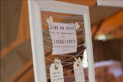 The Mrs Makes:How To Tuesday - DIY Picture Frame Seating Plan