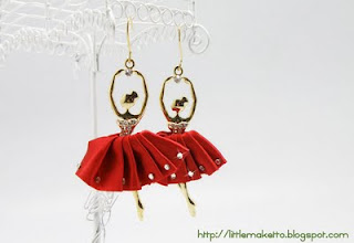 ER092 Ballerina Red Tutu Earrings Accessorize away!