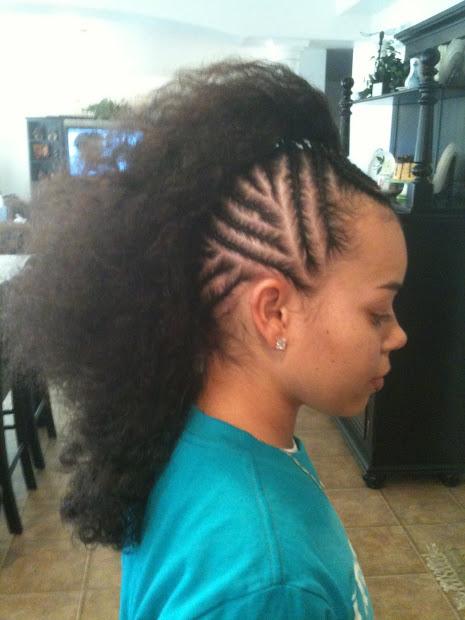 cornrows braids extensions mohawks