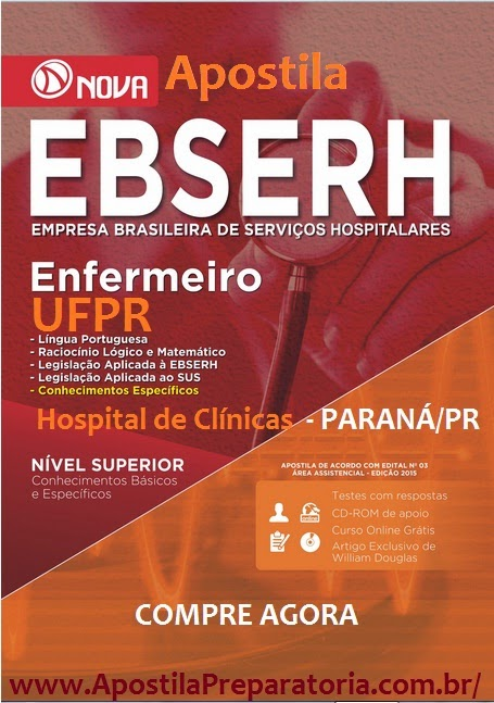 Apostila Concurso EBSEH/CHC/UFPR - Enfermeiro