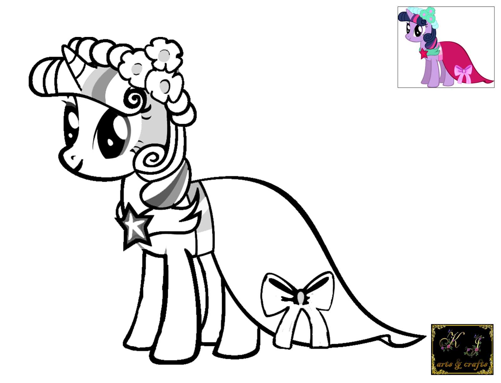 KJ Coloring Pages Twilight Sparkle Coloring Pages