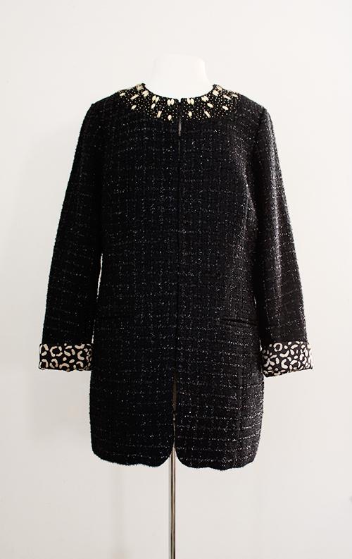 vintage 60s style boucle coat