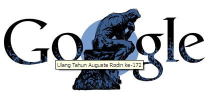 Google Doodle Rayakan Ultah Auguste Rodin