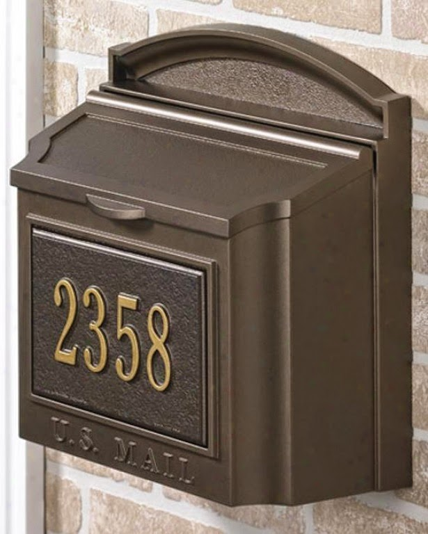 Wall Brown Mailbox