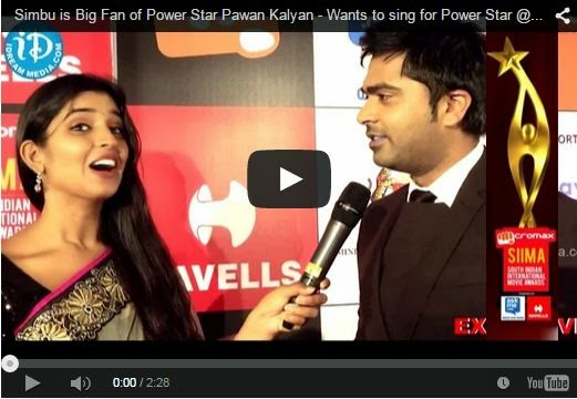 Simbu is Big Fan of Pawan Kalyan - Wants to sing for Power Star