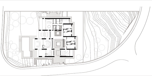 Site plan of the modern home