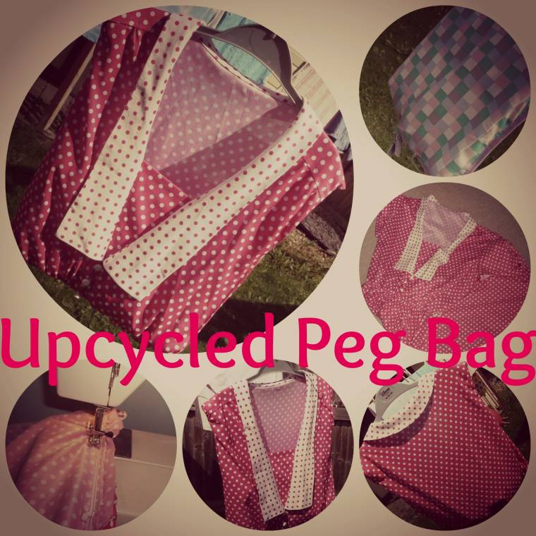 Up-cycled: New Peg Bag Out An Old Afternoon Tea Dress