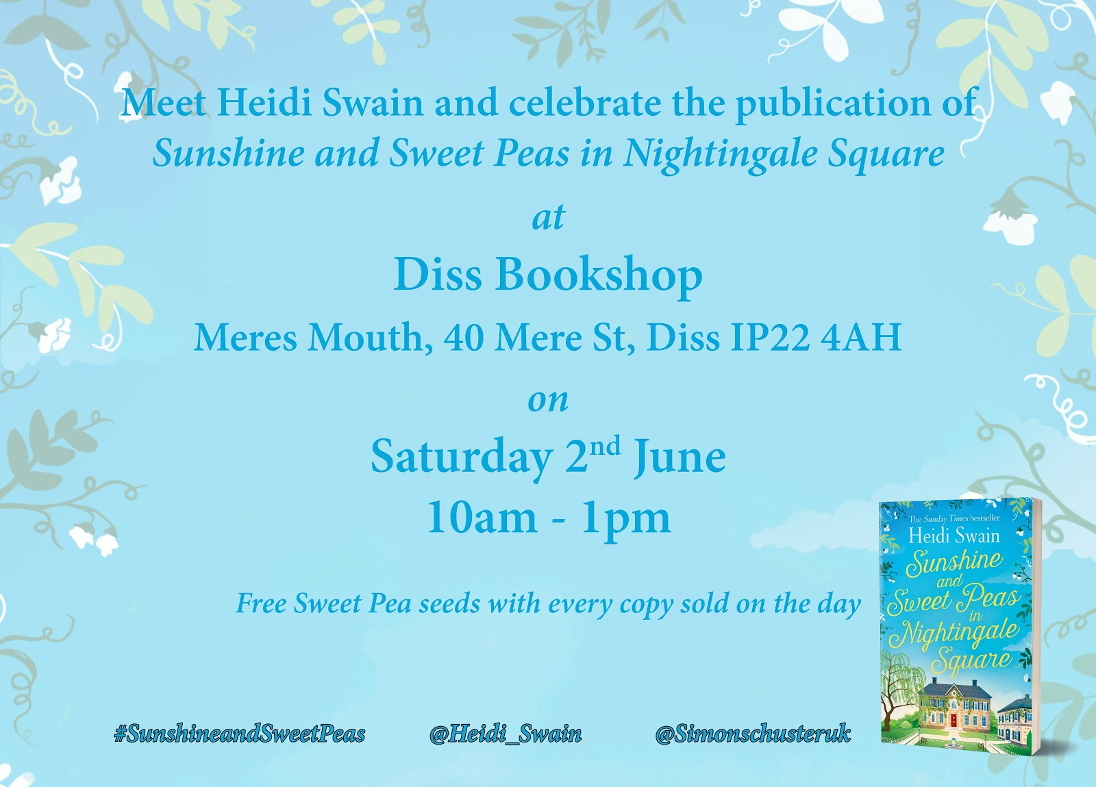 Sunshine and Sweet Peas signing in Norfolk!