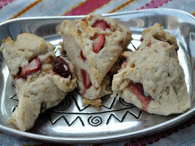 Vegan Gluten-free Strawberry Scones