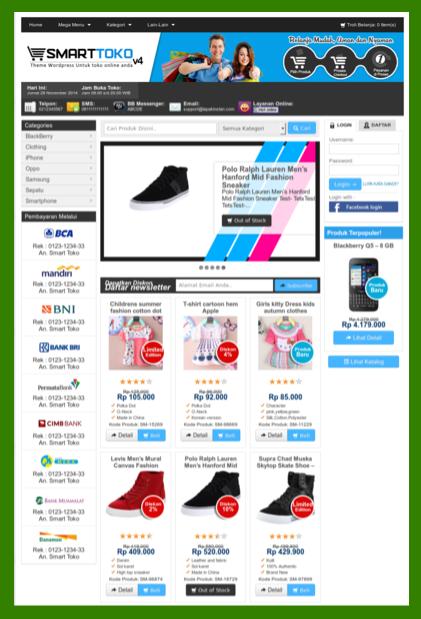 Template toko online murah