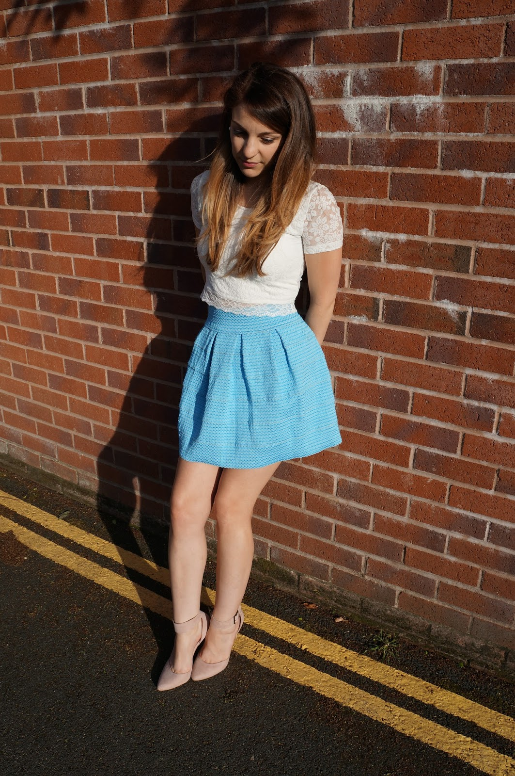 fashion, blue, skirt, bell,