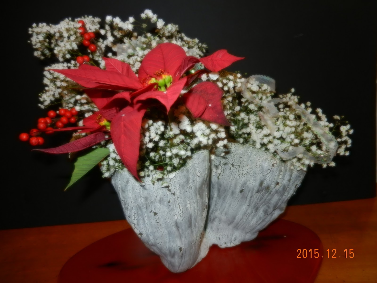 Orchids and ikebana holiday arrangement merry christmas 2 Christmas orchid arrangements