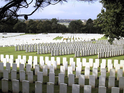 Reality of war cemetery