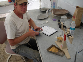 Another satisfying gold prospecting experience - tallying the gold