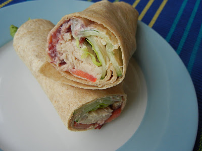 Turkey Cranberry Wraps --great with leftover turkey & cranberry.