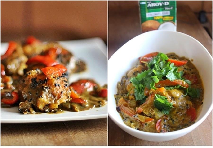 Kurpitsapyöryköitä curry-kookoskastikkeessa(vegan)