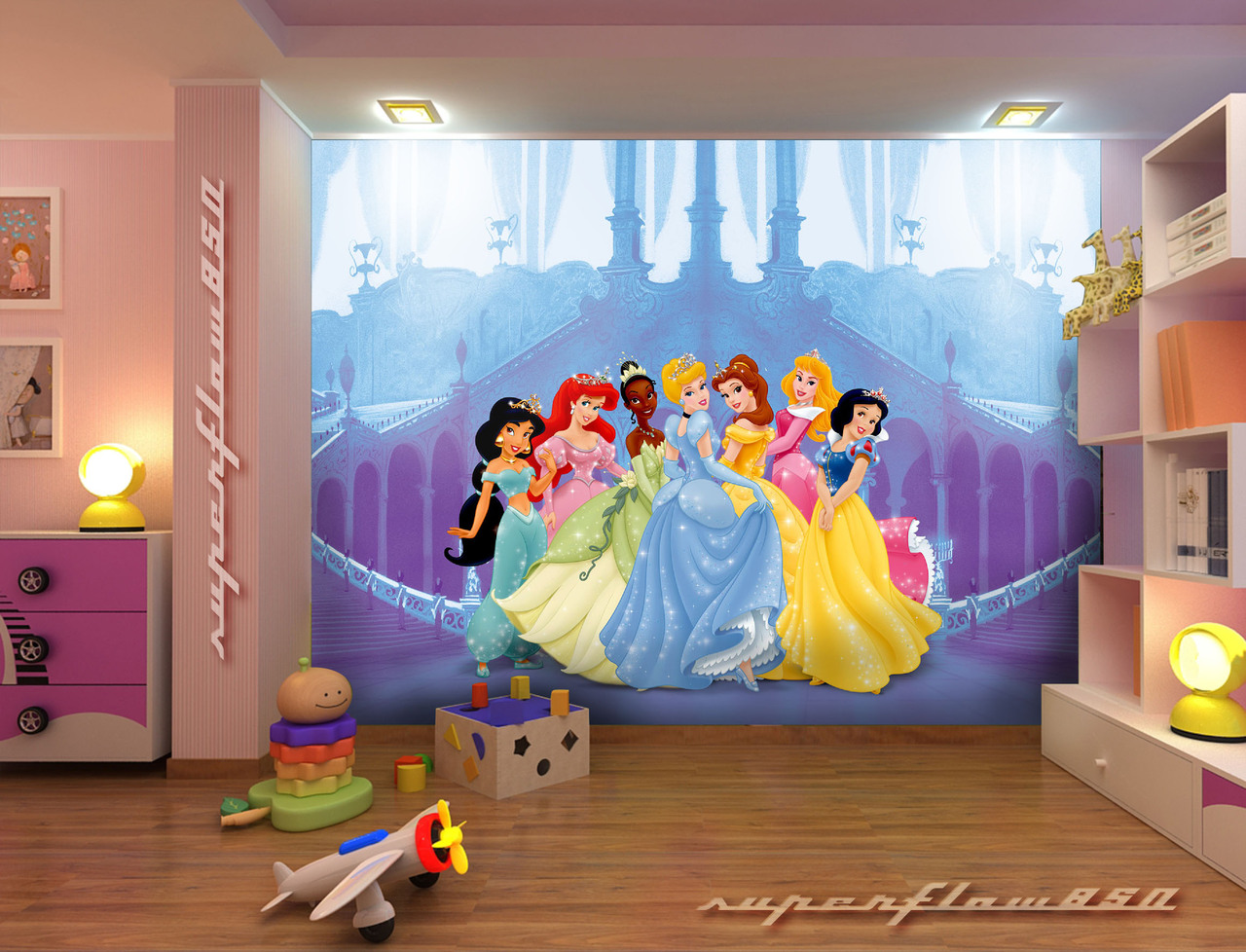 Image gallery disney murals for Disney mural wallpaper