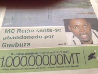 MC Roger Sente-se Abandonado por Guebuza