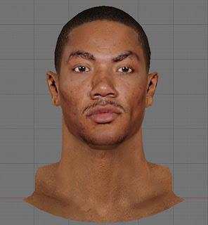 NBA 2K13 Derrick Rose Realistic Cyberface Mod