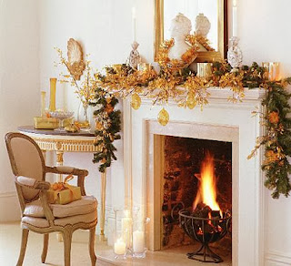 Fireplace Decorating for Christmas, Part 3