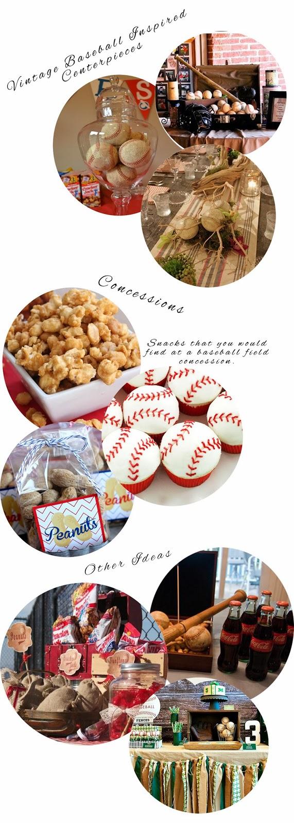 vintage, baseball, tabeltop, tablescape, concessions, vintage baseball
