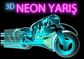 3D Neon Yarış Oyunu