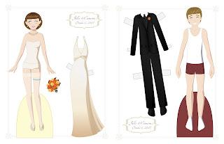 Wedding Anniversary Paper Doll