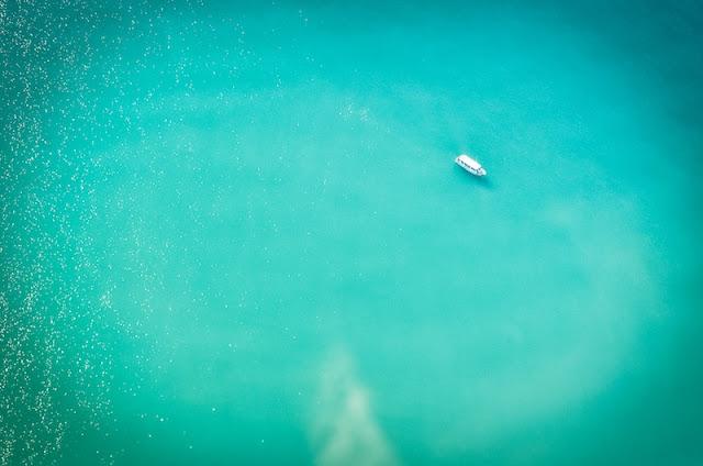 foto aerea costa de barcelona