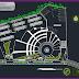 مخطط بسيط لمعرض الزهور اوتوكاد dwg