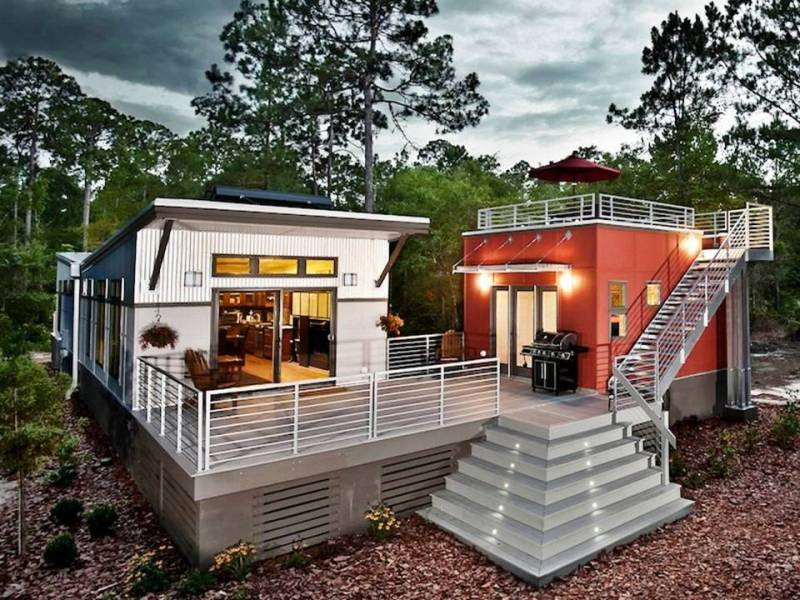 Modern interior design off grid homes plans for Cost to build a house in georgia