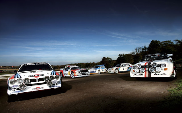 Lancia Delta S4 Group B Ford RS200 Group B MG Metro 6R4 Group B Peugeot 205 T16 Audi quattro Group B