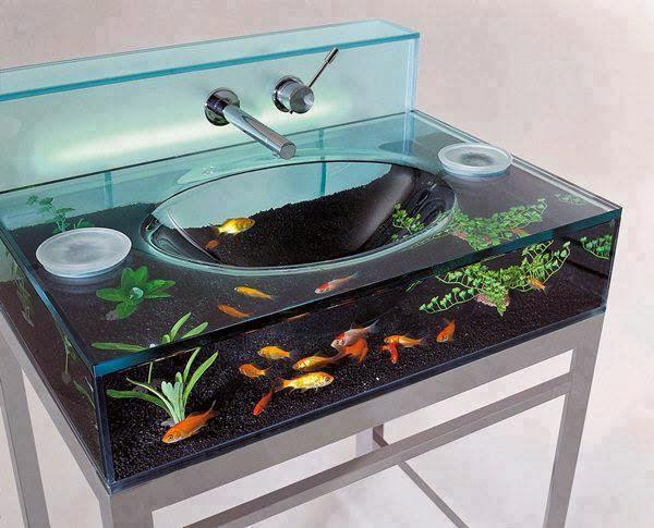 Lavabo con acuario