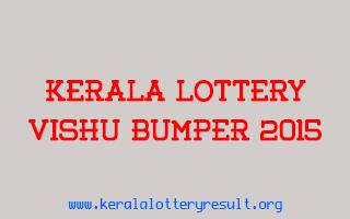 Vishu Bumper 2015 BR-43 Lottery Prize Structure
