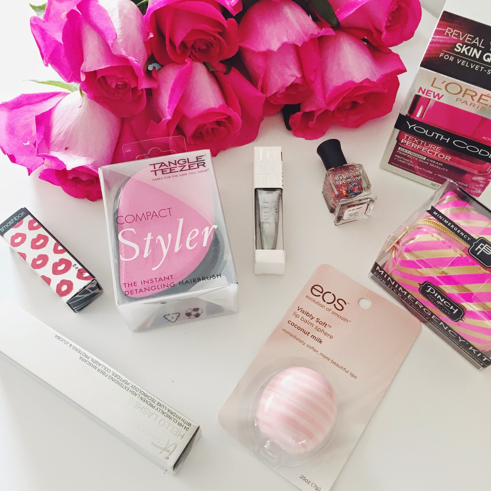 beauty essentials, giveaway, loreal, eos, valentine's day