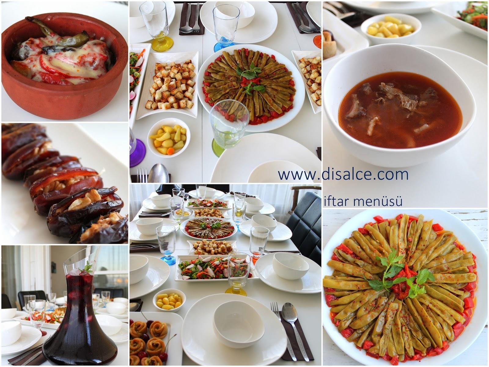 disal'in gözünden mutfak: İFTAR MENÜSÜ-İFTAR SOFRASI