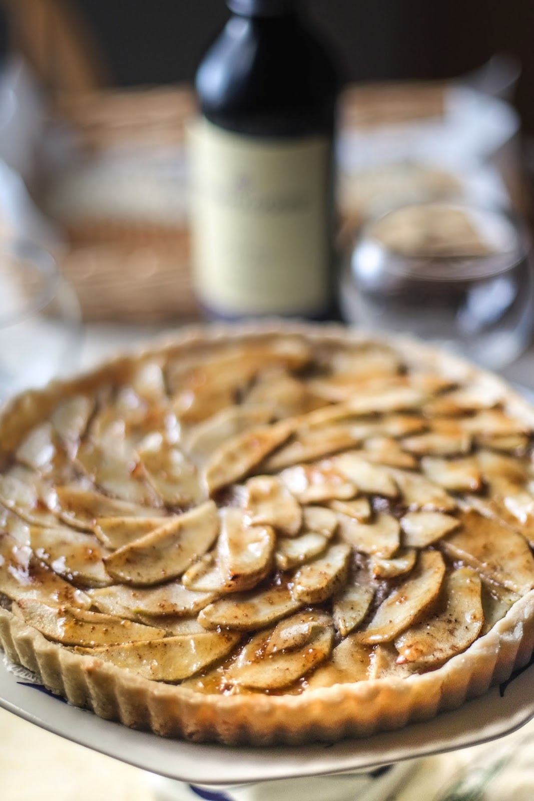 Apple Walnut Tart With Fig Glaze Recipe — Dishmaps