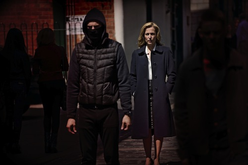 The Fall BBC2 The serial killer Paul Spector (Jamie Dornan) and DSI Stella Gibson (Gillian Anderson)