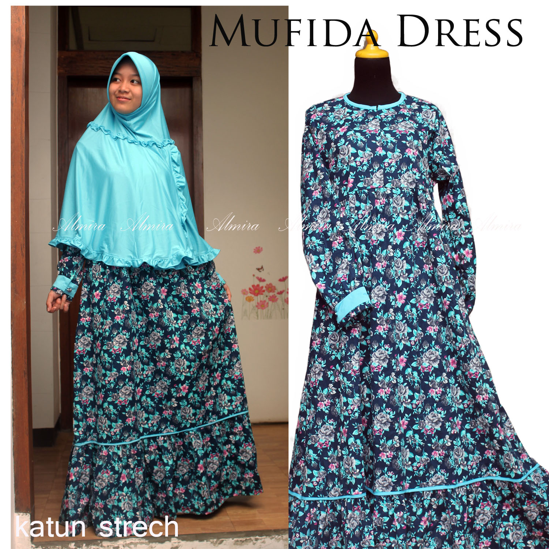 Gamis Katun Strech Mufida Dress Griya Raditya