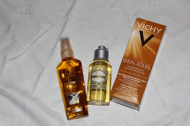ulei par Gliss , ulei dus L'occitane, autobronzant Vichy Ideal Soleil