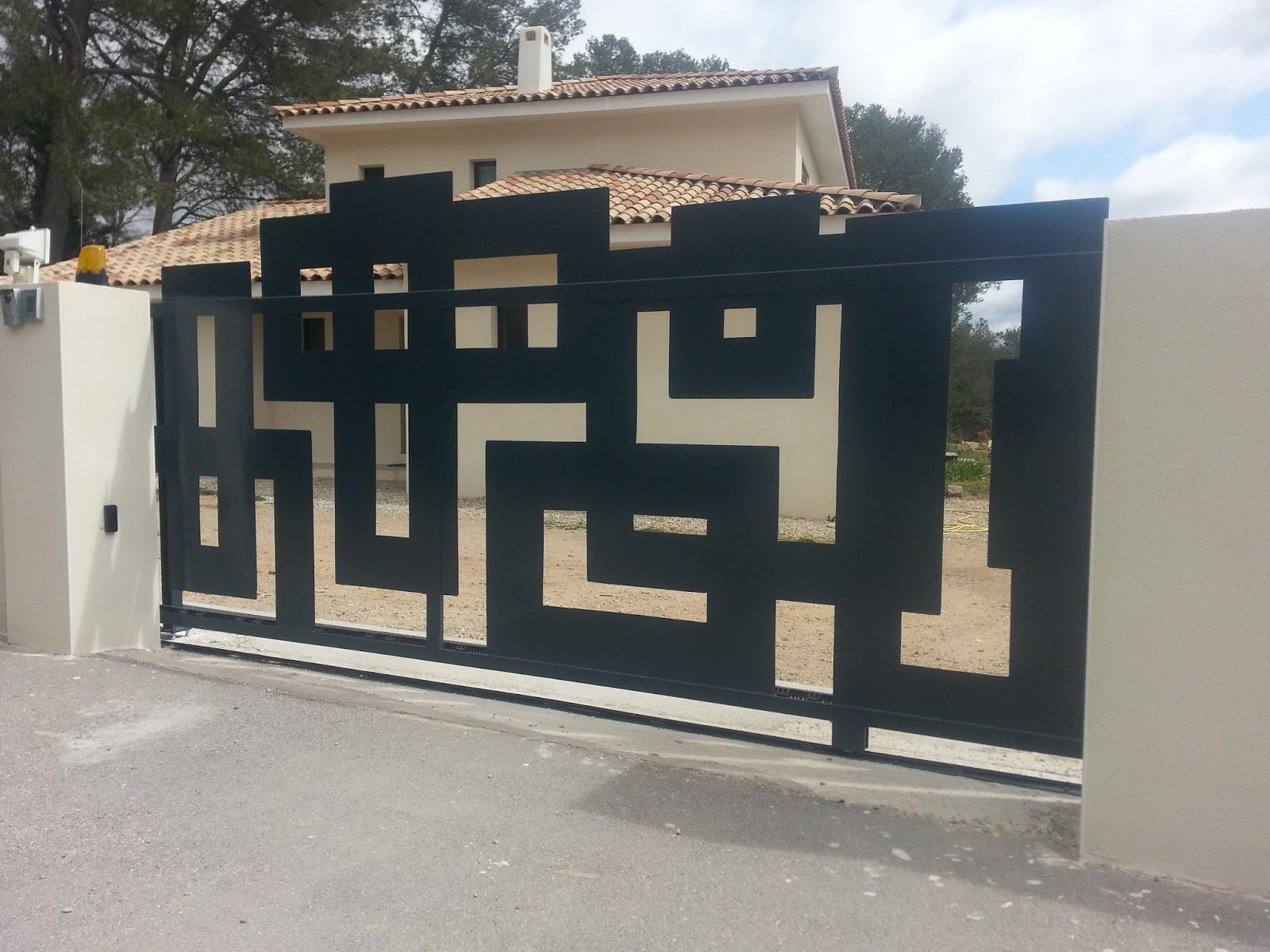 ferraille papillon portail graphique coulissant 2900 fabrication livraison pose. Black Bedroom Furniture Sets. Home Design Ideas