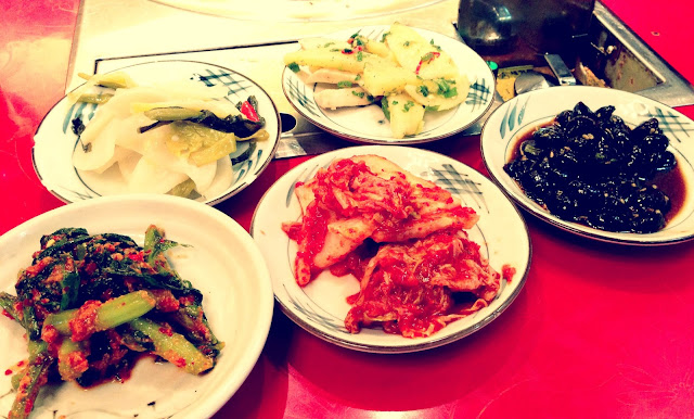 The korean side Dish (also called Pan Chan)