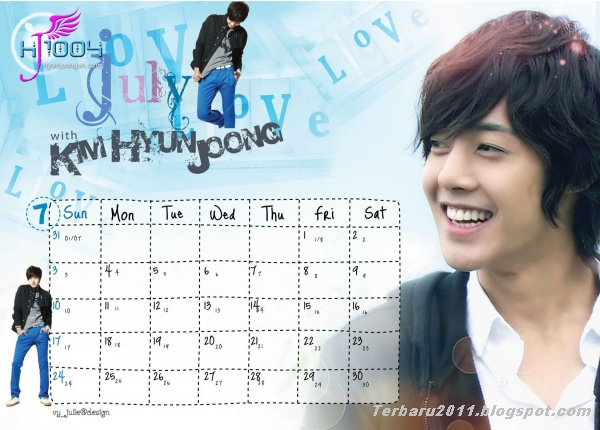Foto Kim Hyun Joong Calendar 2012 Agustus