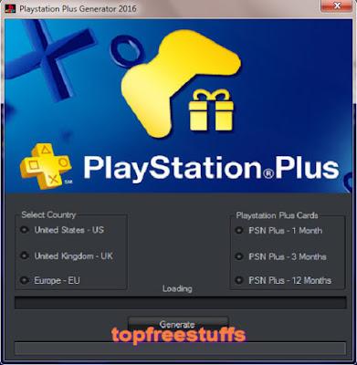 Playstation Plus Generator 2016
