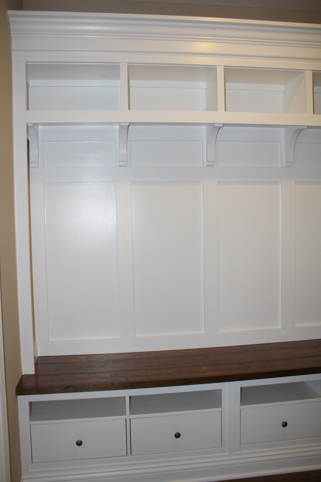 Making mudroom storage from an ikea hack Storage bench ikea
