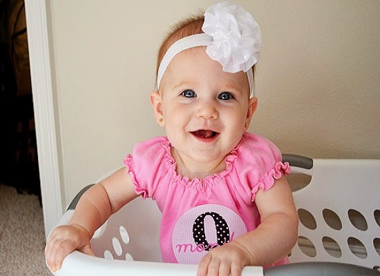 Album photo bébé à l'âge de 9 mois