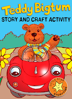 cover picture for Teddy Bigtum, a kindle story book with craft activity