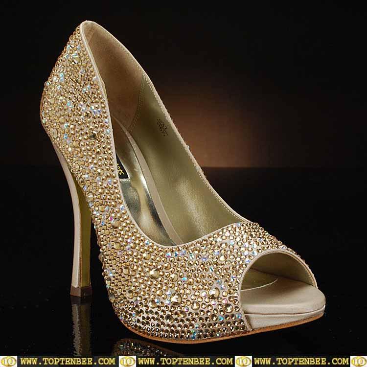 Wedding Shoes Golden 002 - Wedding Shoes Golden