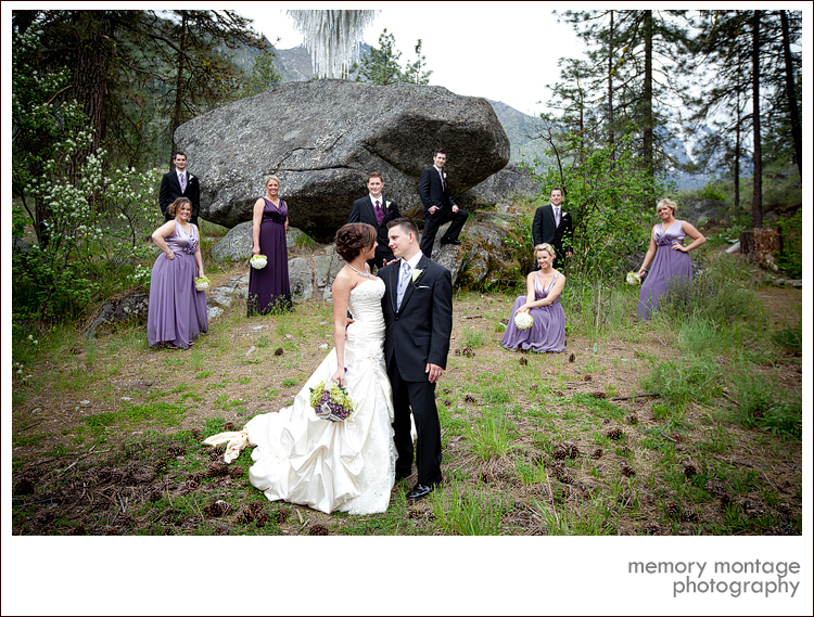 purple wedding photo