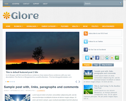 Glore Blogger Theme